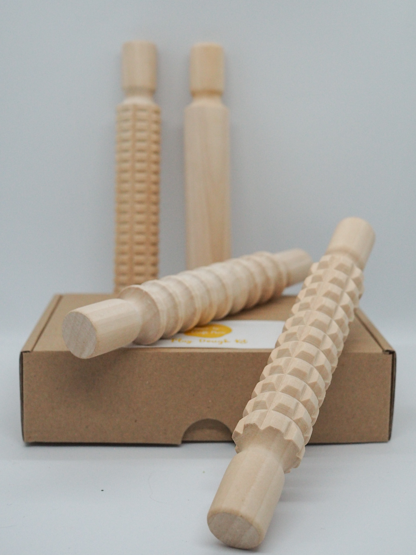 Wooden Rolling Pins for sensory play